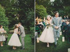 Bride and groom kiss #wedding #vintage (Image by Mango Studios)