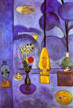 A Janela Azul - Pinturas de Matisse, Henri - (Fauvismo) Francês