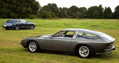 1960s Lamborghini 400GT Flying Star II  2000s Bentley Continental GT, shooting brakes by Touring