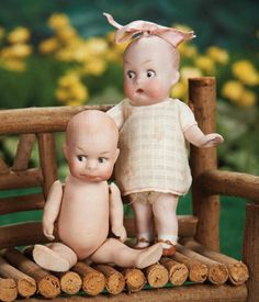Two German All-Bisque Googly Dolls with Jointed Limbs 500/700 Auctions Online | Proxibid