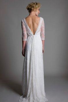 55 vestidos de noiva com decote nas costas - Decote V clássico