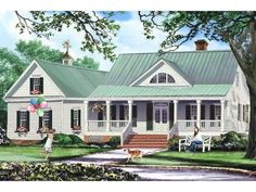 063H-0226: Country Ranch House Plan with Open Floor Plans