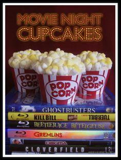 Movie Night Cupcakes via Geek Sweet