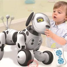 New Programable Wireless Remote Control Smart Robot Dog Kids Toy Intelligent Talking Robot Dog Toy Electronic Pet kid Gift – Toys & Accessories