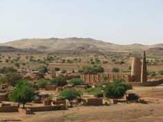 Earthen building - Burkina Faso - Kongoussi.