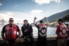 Mongrel mob members in QT Biker Clubs, Motorcycle Clubs, Mongrel, Cars And Motorcycles, New Zealand, Photo S, Christmas Sweaters, Crime, Patches