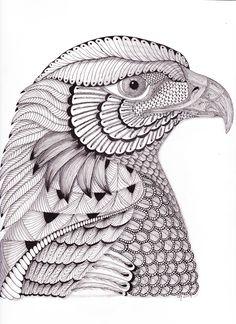 Zentangle Eagle | River Eagle available on Redbubble