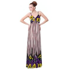 Amazon.com: Ever Pretty Sexy V-neck Floral Printed Beach Cover Casual Dress/ Summer Dress 09502: Clothing