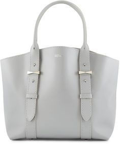 Alexander McQueen Legend Small Leather Tote Bag, Silver