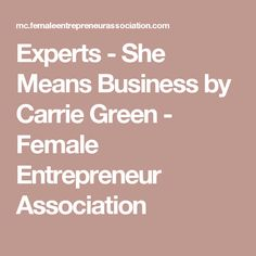 Experts - She Means Business by Carrie Green - Female Entrepreneur Association - Tap the link now to Learn how I made it to 1 million in sales in 5 months with e-commerce! I'll give you the 3 advertising phases I did to make it for FREE!