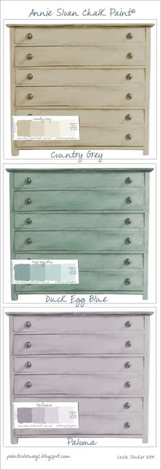 In addition to the color options shown in yesterday's post for the chest of drawers, here are six more Annie Sloan Chalk Paint® colors to consider.Sometimes it can be difficult to make a color deci...