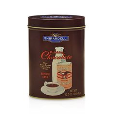 Ghirardelli Chocolate Heritage Drinki… Ghirardelli Chocolate, Chocolate Gifts, How To Make Chocolate, Hot Chocolate, Chocolate Company, Peppermint Bark, Baked Chips, Tin Gifts, Ben And Jerrys Ice Cream