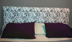 DIY Upholstered Wall Mounted Headboard. Under 50 bucks and Under an hour! c/o thektdid.com