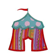 Circus Tent Appliques Machine Embroidery by BigDreamsEmbroidery