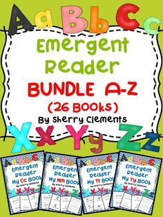 Emergent Reader A-Z Bundle (26 books) Variety of sight words used in each reader (15% SAVINGS) Kindergarten Reading - Guided reading - Provides for differentiation! $