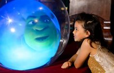 #Shreks Adventure in London has #Shrek in a crystal ball #attractions #family