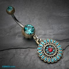 Vintage Boho Sahasrara Chakra Belly Button Ring
