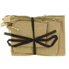 Me & My B.A.G. Natural Jute Cosmetic Bag Set | Shop Hobby Lobby