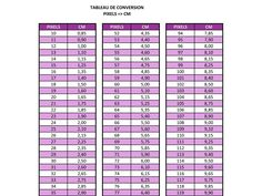 Free conversion table to make your own folded book pattern.