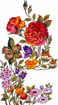 DESiGN ELEMENTS on Behance Botanical Drawings, Botanical Illustration, Botanical Prints, Floral Prints, Flower Art Images, Flower Pictures, Botanical Flowers, Flowers Nature, Motifs Textiles
