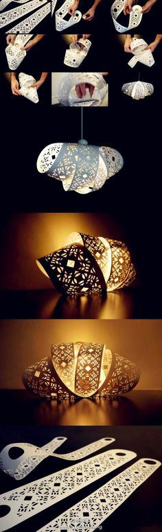 Exquisite creative handmade paper-cut shade