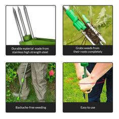 Weed Root Remover – Divine New Deals Garden Art, Garden Tools, Weeding Tools, Backyard Trees, Neck Pain, Lawn Care, You Can Do, Roots, Projects To Try
