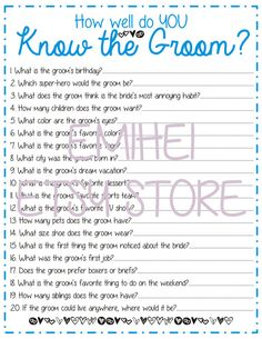 groom trivia wedding shower games wedding games bridal shower party bridal shower prizes
