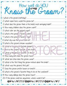 Groom Trivia