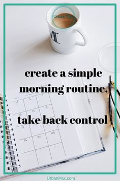 Morning routines are usually a frenzy chaos trying to get ready and get things done. Try and establish in advance what works for you so that morning are calm and serene.