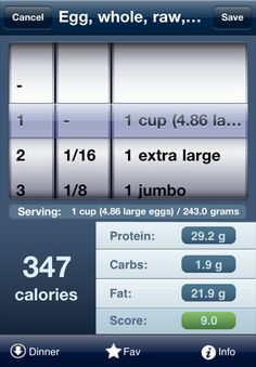 The calorie tracker tap & track...