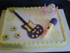Rachel's 6th Birthday Cake, Rock Star