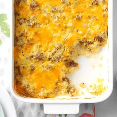 """You could call this the """"So Good Casserole"""", because that's what people say when they try it. It's a Southern specialty.—Marie Poppenhager, Old Town, Florida"""