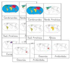 Tarjetas imprimir mapa montessori