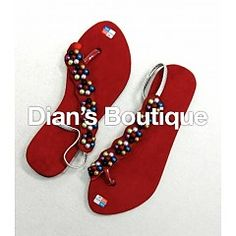 Sandals suede rood