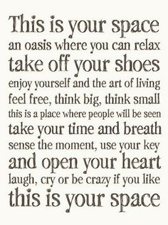 What if you chose everywhere to be your space to be you? The world would be an amazing place...wait...it already is!!!