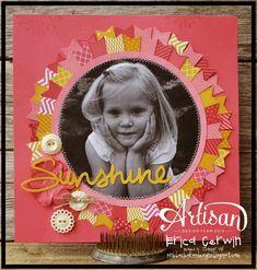 Sunshine scrapbook layout by Erica Cerwin