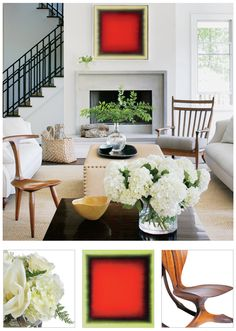 Style selections for a Hamptons living room by Brad Ford.