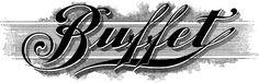 Vintage Buffet Sign Image