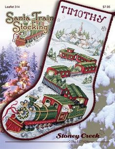 Santa Train Stocking - Stoney_Creek Pattern