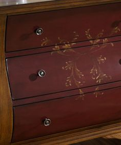 Hand painted solid wood bombay chest-- love it--when get a great job--- i'm getting to go for entryway hall.