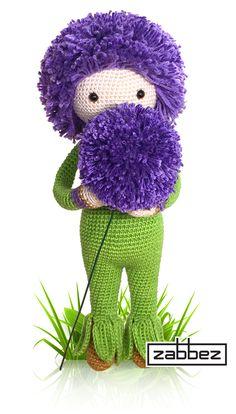 Giant Onion Otto flower doll - amigurumi - crochet pattern by Zabbez