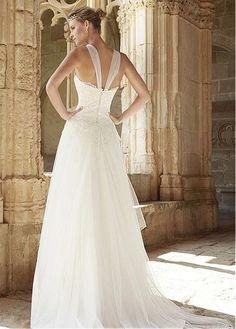 f8c83a35d Magbridal Stunning Tulle High Collar Neckline A-line Wedding Dress With  Lace Appliques. Traje De NovioVestidos De NoviaNoviosVestidos De Novia  2015Vestidos ...
