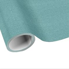 Teal / Blue Faux Glitter Wrapping Paper