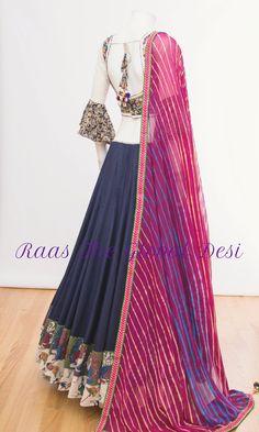 Indian Attire, Indian Wear, Indian Outfits, Lehriya Saree, Silk Lehenga, Sabyasachi, Anarkali, Choli Designs, Blouse Designs