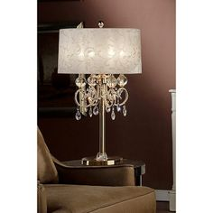 Shop for Inch Aurora Barocco Shade Crystal Gold Table Lamp. Get free delivery On EVERYTHING* Overstock - Your Online Lamps & Lamp Shades Store! Get in rewards with Club O! Chandelier Table Lamp, Table Lamp Sets, Lamp Shade Store, Gold Table, Room Lamp, Cool Floor Lamps, Drum Shade, Home Lighting, Outdoor Lighting