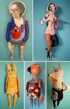 slightly unheimlich dolls by cecile perra Toy Art, Textiles, Softies, Paper Dolls, Art Dolls, Instalation Art, Creation Art, Art Antique, Art Brut