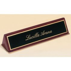 This 572 Rosewood Name Plate is coated with a glossy piano finish and includes a black brass engraving plate for personalization. This name plate is x in size. Desk Plaques, Desk Name Plates, Names, Product Development, Item Number, Piano, Brass, Wallet, Projects