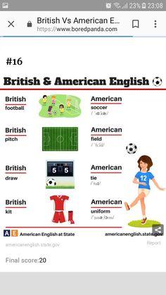 British And American English, British Football, English Language Learning, Writing Workshop, Ielts, English Vocabulary, My Teacher, Languages, Grammar
