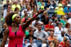 Serena Williams (USA)[4] defeated Andrea Hlavackova (CZE) 6-0, 6-0 in the fourth round at the US Open. - Philip Hall/USTA
