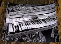 SALE - Abandoned Fender Electric Piano - 16x20 High Quality Photo Oversized Poster Print. $55.00, via Etsy.